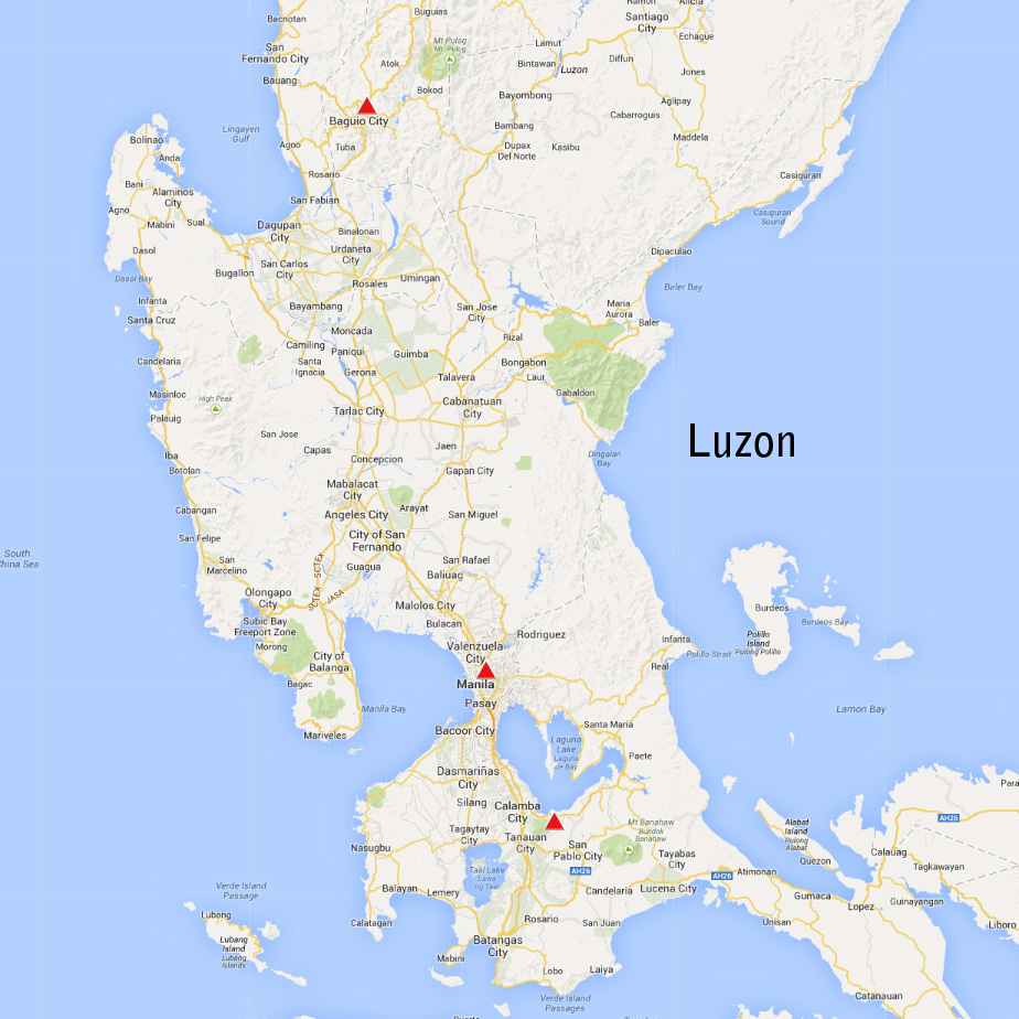 Island Of Luzon Philippines Map